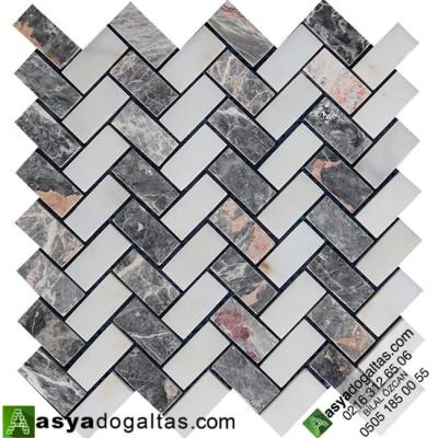 Fileli Mermer Mozaik Modelleri -AT1014