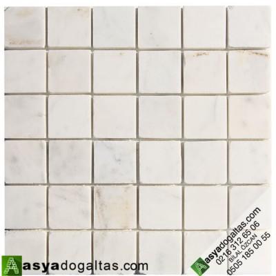 5×5 Fileli Cilalı Mermer Mozaik – AT1064