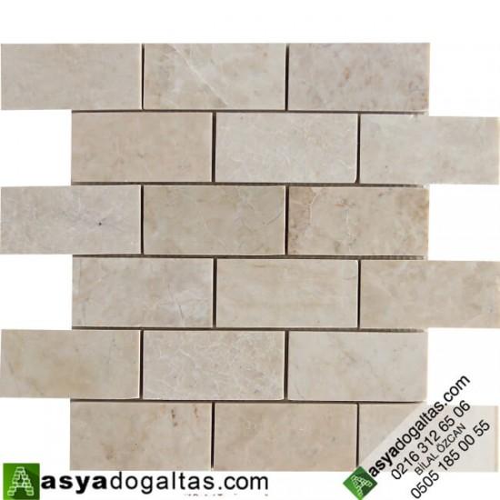 5×10 Bej Mermer Mutfak Tezgah Arası Doğal Taş Mozaik -AT1414