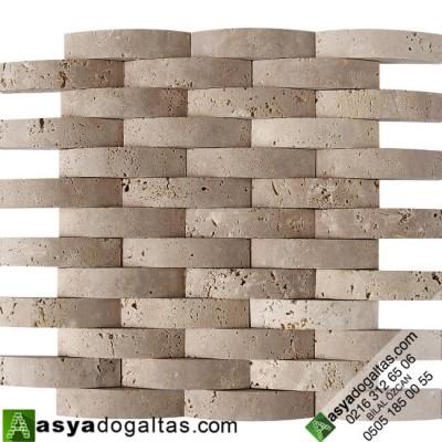 2.3x10cm Doğaltaş Hasır Mozaik – AT1201
