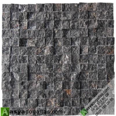 2.3×2.3cm Siyah Doğal Taş Fileli Patlatma (AKŞEHİR) - AT1019