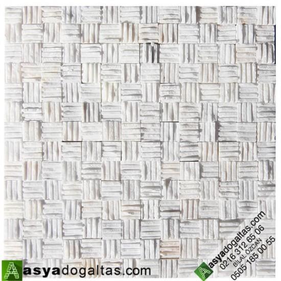 2.3×2.3cm Taraklı Simli Beyaz Patlatma Taş Modelleri - AT1024