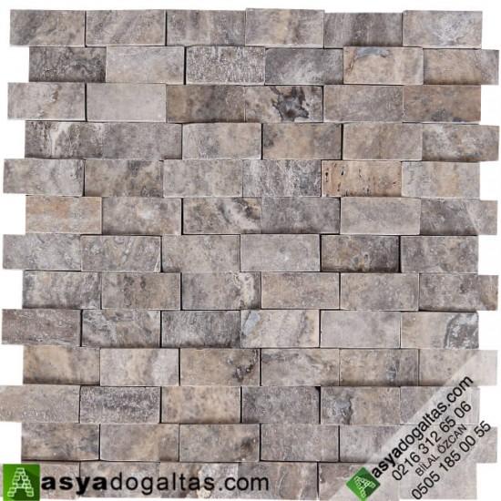 2.3×4.8cm 3D Traverten Duvar Kaplaması - AT1062