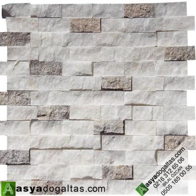 2.3×4.8cm Beyaz Fon Doğal Taş Duvar Taşları - AT1157