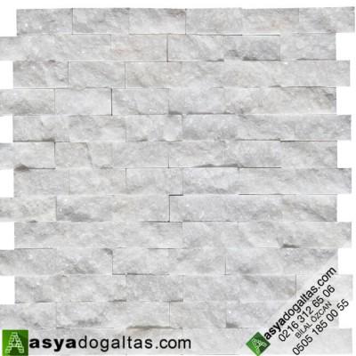 2.3×4.8cm Süper Beyaz Mermer Patlatma Doğaltaş - AT1241