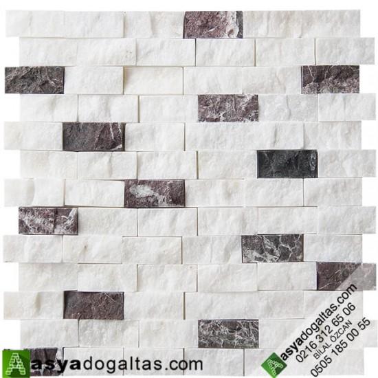 2.3×4.8cm Beyaz Fon Doğaltaş Afyon-Vişne Mix Patlatma-AT1260