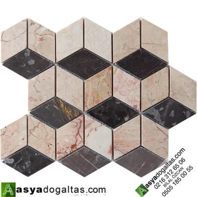 3D Mutfak Tezgah Arası Mermer Mozaik -AT1406