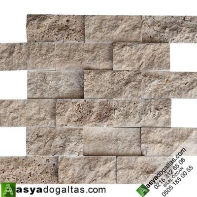 5x10 A+ KALİTE Doğal Tas Denizli Traverten Duvar Taşlari - AT1153