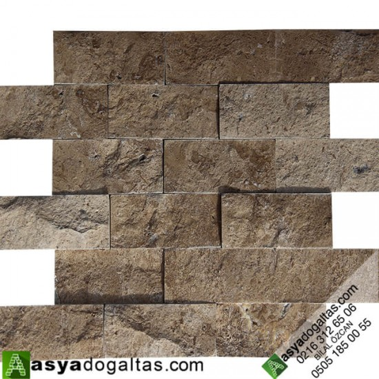5×10 Doğal Taş Patlatma Noce Duvar Kaplaması - AT1320