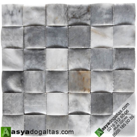 5×5 Gri Doğaltaş Hasır Mozaik – AT1200