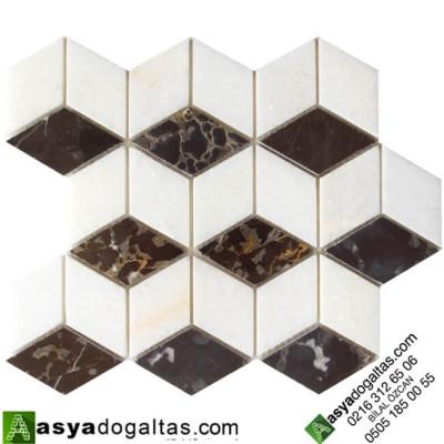 3D Mermer Doğal Taş Duvar Mozaik-AT1438