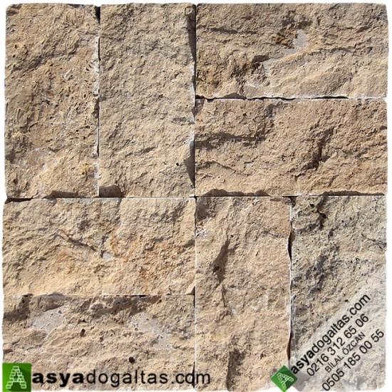 Büyük 10x20cm Traverten Patlatma Duvar Kaplama - AT1316