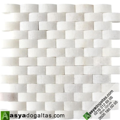 23x48mm Doğaltaş Hasır Mozaik – AT1198