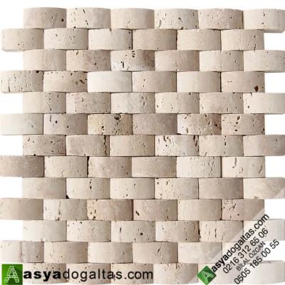 Hasir Model Balık Sırtı Doğal Taş Duvar Kaplama – AT1367