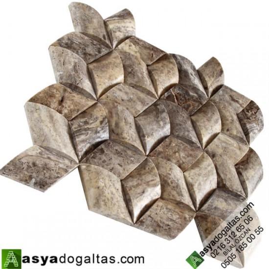 Aralya – Hasır Model Balık Sırtı Doğal Taş Duvar Kaplama – AT1368