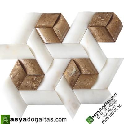 Fulya – Hasir Model Balık Sırtı Doğal Taş Duvar Kaplama – AT1360
