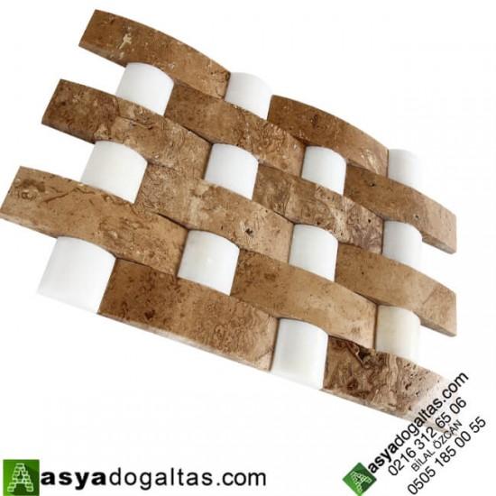 Hasir Model Balık Sırtı Doğal Taş Duvar Kaplama – AT1370