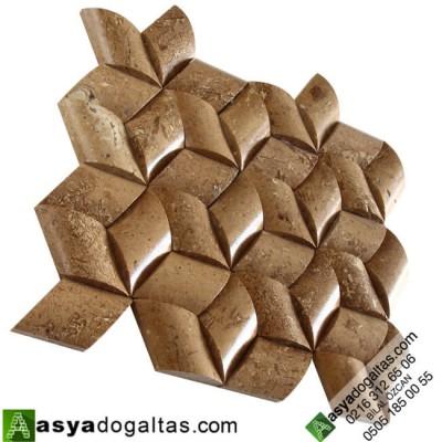Aralya – Hasir Model Balık Sırtı Doğal Taş Cephe Kaplama – AT1355